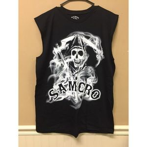 Sons Of Anarchy Muscle Sleeveless T-Shirt SAMCRO
